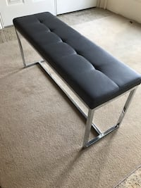 Upholstered Faux Leather Grey Bench Toronto, M2R 3V6