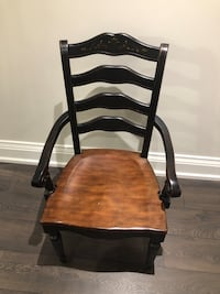10 solid wood chairs for sale (2 of the 10 have armrests) $1000 or best offer Kleinburg, L0J