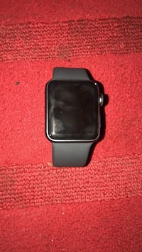 black Apple watch with black sports band Capitol Heights, 20743