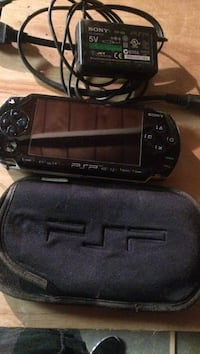 Black sony psp with black case and charger South San Francisco, 94080