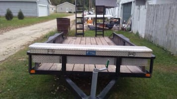 I have pick up truck & 16 foot car trailer for rent with driver