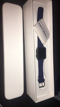Black apple watch with black sport band and box 40 mi