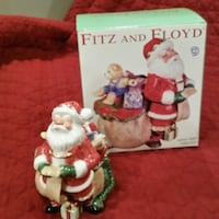 Fitz and Floyd Santa's Flight Lidded Box Cottage Grove, 53527