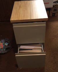 Filing Cabinet w wooden top two drawers - standard size folders Camp Hill, 17011