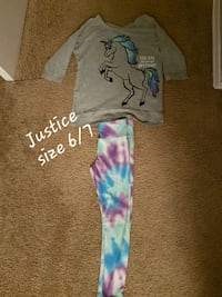 Justice girls outfit size 6/7 London, N5Z 4Z1