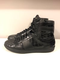 Saint Laurent Crocodile Skin High Tops