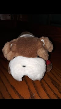 white and brown dog plush toy El Paso, 79928