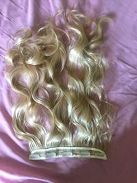 Synthetic blonde hair extensions 1 piece  Barrie, L4N 8L4