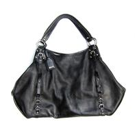 Excellent, DKNY Black Pebble Leather Hobo Shoulder Bag with Dust Cover -was $298 New York