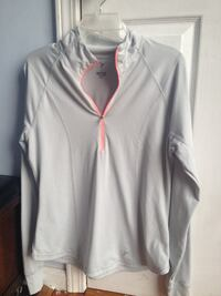 gray Active zip-up jacket