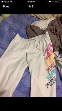 white and pink Pink by Victoria's Secret pants 3155 km