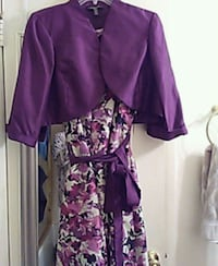 purple and white floral long-sleeved dress Germantown, 20876