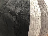 Gray, black and green full size comforter  32 km