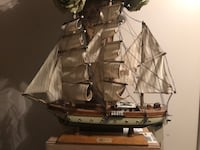 brown and white galleon ship miniature Ogden, 84404