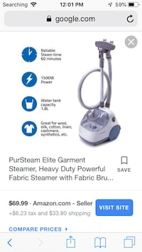 Pur steam clothes steamer 40 km