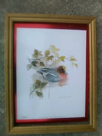 Vintage numbered duck lithograph