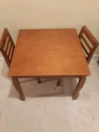 rectangular brown wooden table with four chairs dining set Gainesville, 20155