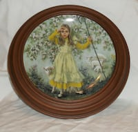 Little Bo Peep Collector Plate in Faux Wood Frame  Mississauga