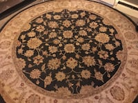 round brown and white floral area rug Vancouver, V5T 2L8