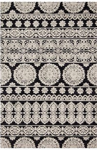 White and black floral area rug Gulfport, 33707