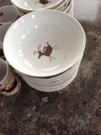 Each Christmas Reindeer bowl (New) Vancouver, V5M