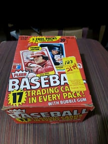 1981 Fleer Baseball Cards Wax Packs