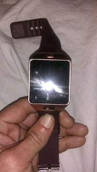 gold aluminum case Apple Watch with black Sport Band 799 mi