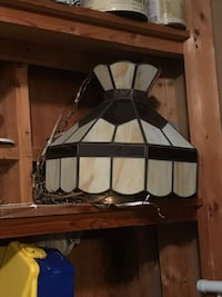 Stained glass hanging light - $80 OBO 43 km