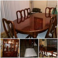 brown wooden dining table set Miami, 33183