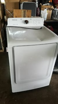 white front-load clothes dryer 2355 mi