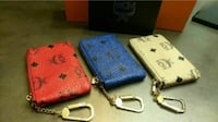 MCM leather coin pouches