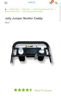 Jolly Jumper Cup Holder and Stroller Organizer Vaughan, L6A 4L4