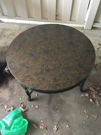 round black metal framed glass top table Valdosta, 31605