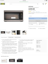 Black and gray microwave oven Vaughan