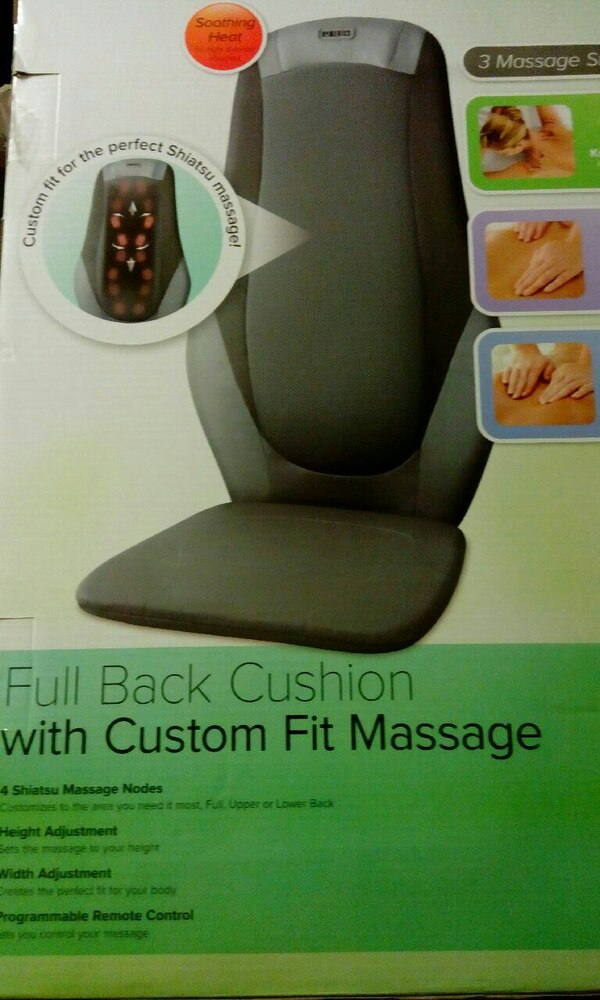 Used Black Full Back Cushion Mager Box For In Myrtle Beach Letgo
