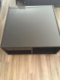 IKEA BOKSEL Coffee Table with Glass Top, Storage, and Wheels 31(L)x31(D)x16(H) Washington, 20001
