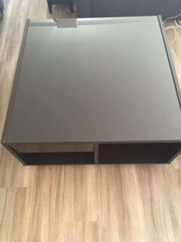 Ikea Boksel Coffee Table With Gl Top Storage And Wheels 31 L X31 D X16 H