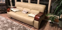 brown leather 2-seat sofa Henryville, 18332