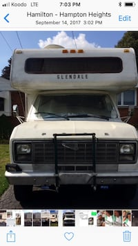 For sale 1982 Ford RV. Is in great shape . Has bathroom with shower. Has solar electric and normal electric also with generator 351 cubic engine Windsor. Sleeps six. Two gas tanks , propane stove and furnace  Hamilton, L8L 4Y4