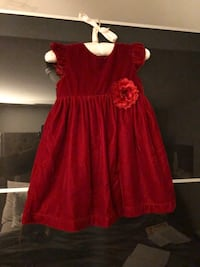 Girls Holiday Dress 24 months red velvet Cambridge, N3C 2P4