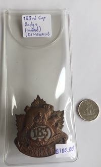 Collectable and Vintage Canadian WW1 Cap Badge  Toronto, M4V 2C1