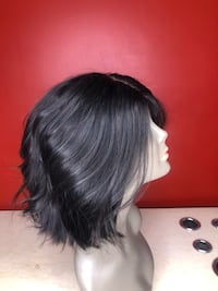 Women's black hair wig 65 km