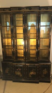 black wooden framed glass display cabinet Springfield, 22152