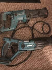 two blue Makita reciprocating saws New Westminster, V3M 1W4