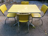 1950'S YELLOW TABLE AND 4 CHAIR'S Grove City, 43123