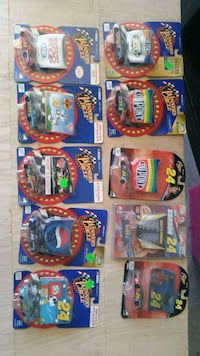 assorted plastic toy cars in boxes Ontario, 97914