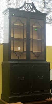 Chinese Chippendale-style China Cabinet Philadelphia
