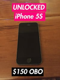 Unlocked iPhone 5S Excellent condition  Peterborough, K9H 2Y6
