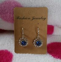 Blue Sunflower Earrings Port Aransas, 78373