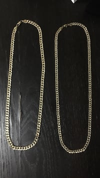 Chains gold plated